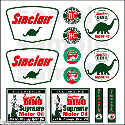 Ho Scale Flags (SINCLAIR 1:87 HO SCALE BUILDING GASOLINE GAS STATION SIGNS DECALS FREE FLAG )