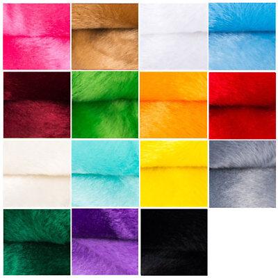 Fellimitat 95x150 cm Stücke mit Farbwahl Kunstfell Plüschstoff Plüsch Kunstfell