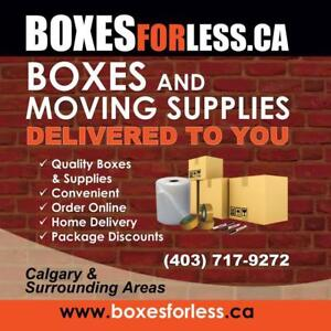 Need moving supplies? Moving across town or across the country? Shipping to your door!