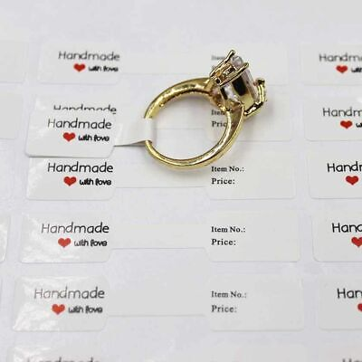 100cs Adhesive Sticker For Ring Necklace Jewelry Display Price Label Tags Crafts