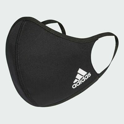 Adidas Face Cover Mund-Nasen-Maske Kindermaske Gr. XS/S Schwarz waschbar 60°C
