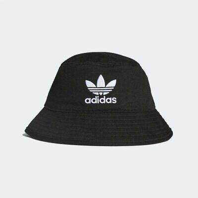 Adidas Originals Mens Black Trefoil Bucket Hat OSFM Fishermans BNWT Casuals Sun