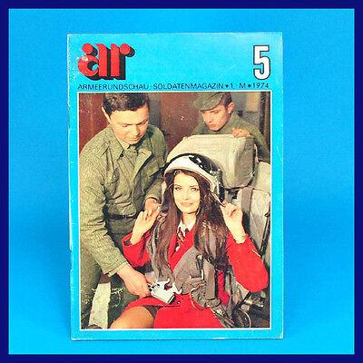 Armeerundschau 5-1974 NVA Volksarmee Soldatenmagazin DDR-Zeitschrift Farah Maria