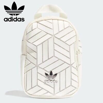New ADIDAS 3D Mini Backpack Rucksack Festival/Day Bag - Small Geometric - White