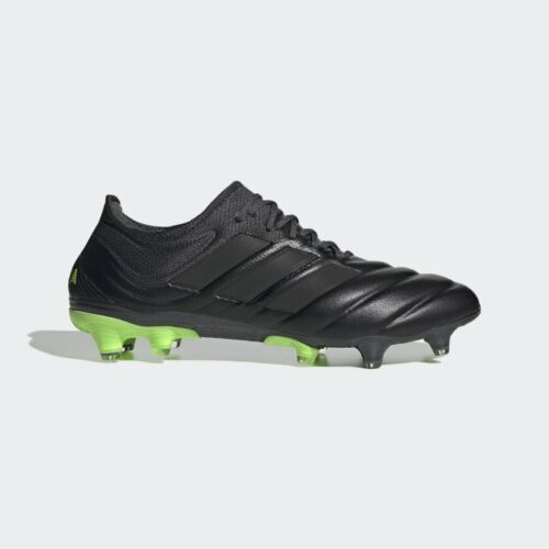 Adidas Copa 20.1 Fg Mens Firm Ground Soccer Cleat Core Black/Signal Green EH0883