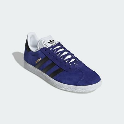Adidas Originals Gazelle Shoes Trainers Purple Black White 100% Authentic