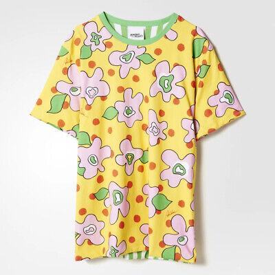 Jeremy Scott X Adidas Originals Cartoon Couture Floral Reversible Print T-shirt