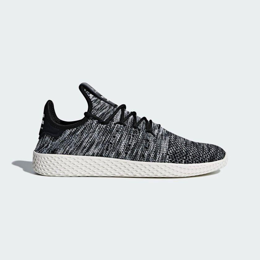 0c69fdddbbe45 adidas pharrell williams tennis hu primeknit shoes uk 10 black white