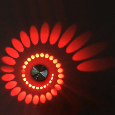 Spiral 3W LED Ceiling Light Wall Fixture Lamp Aluminum Indoor Lighting Disco Bar](Disco Ceiling Light)