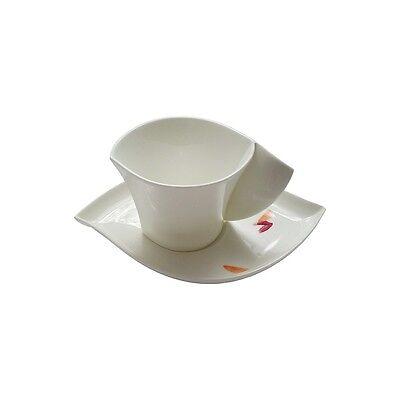 Hutschenreuther Luna Shalima/weiß Kaffeegedeck Tasse mit Untertasse 23 ml NEU