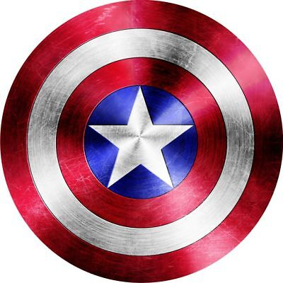 4x4 Spare Wheel Cover 4 x 4 Camper Graphic Sticker Captain America Shield A758