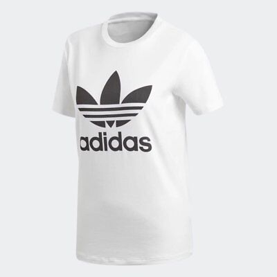 Women's adidas Trefoil T-Shirt White/Black [z] CV9889