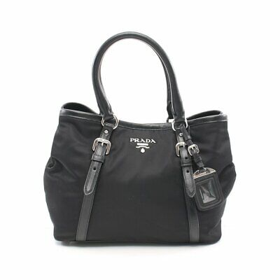 PRADA tote bag nylon leather black 2WAY
