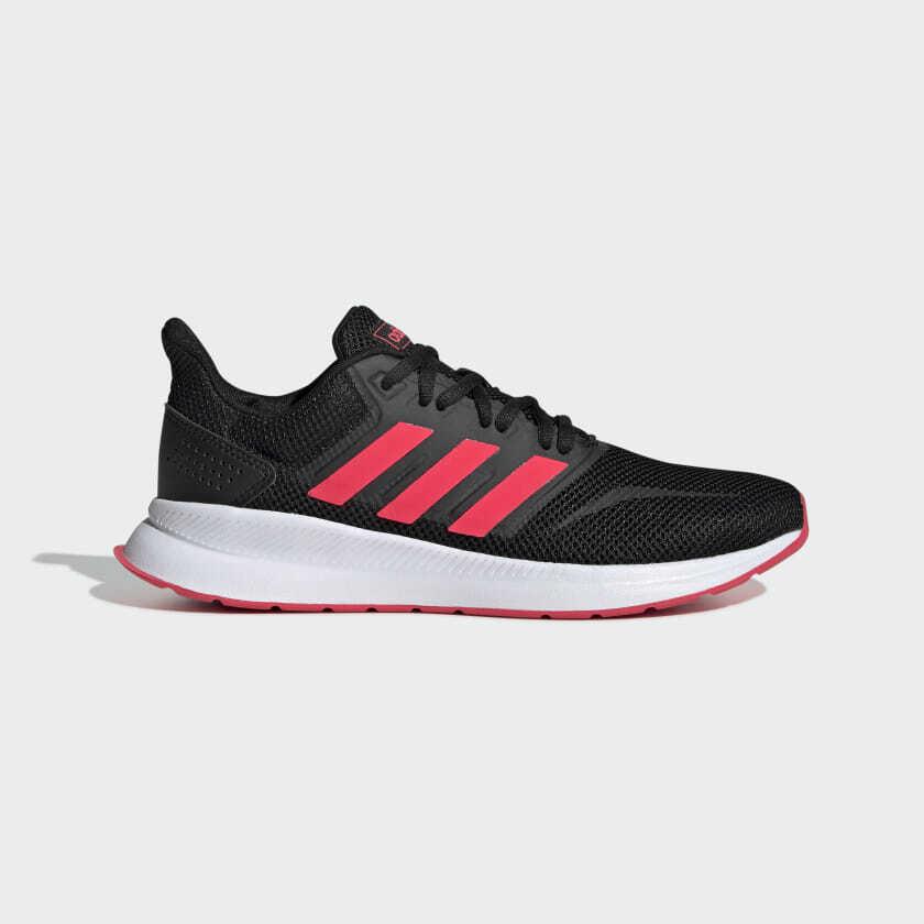 aislamiento Marcado límite  Womens Adidas Run Falcon Black/Pink Trainers (CMF12) RRP £44.99 | eBay