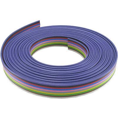 2,30€/m 10m Flachbandkabel 10x0,5mm² Farbfolge DIN Aufbau 16x0,2 ReinCU verzinnt