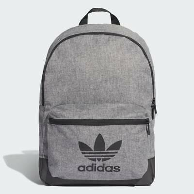 Adidas Classic Melange Backpack Grey Rucksack Black Trefoil Bag School/Work/Gym