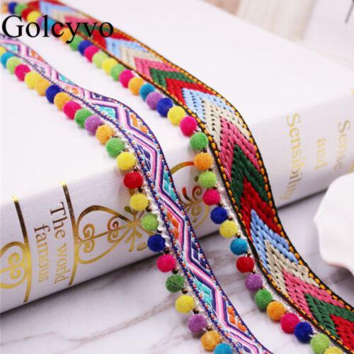 2yds Cotton Tassel Lace Trim Fringe Ribbon DIY Garment Curtain Bags 0.78/'/' Width