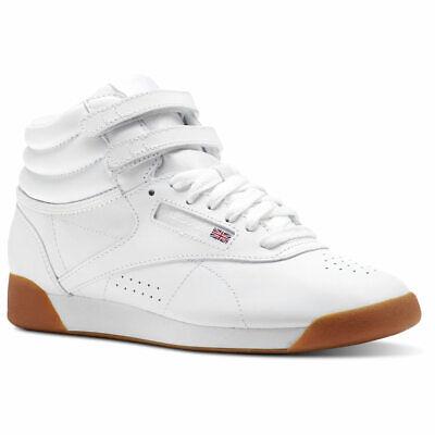 (CN2392) Women's Reebok Freestyle Hi White Gum *NEW*