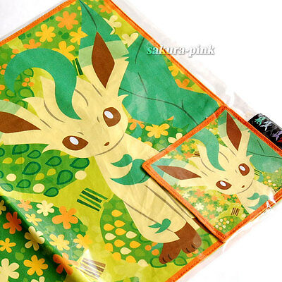 Leafeon Place Mat & Coaster Pokemon Center Ltd Eevee Collection Authentic Japan