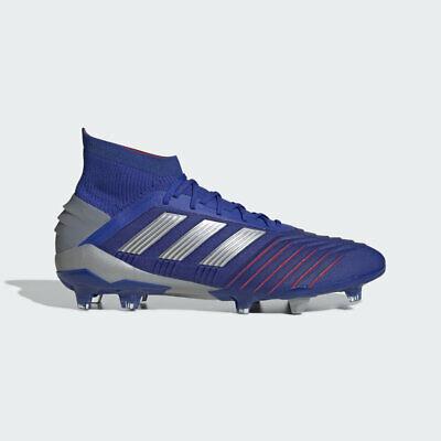 8cee27bc883 Adidas Predator 19.1 Fg Blue  Silver metallic BB9079 Mens Soccer cleats  Size 9