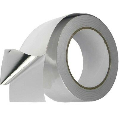 1 Big Roll Aluminium Foil Tape Silver Duct Self Adhesive Heat Insulation 2x 50m