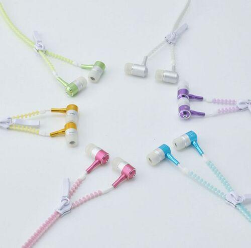 New 1PCS Light Headphones Earphones Headset Luminous zipper In-Ear headphone PAT