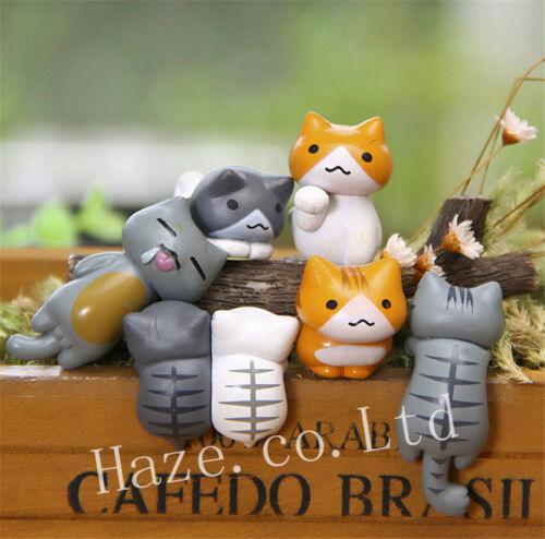 6 stücke Anime Neko Atsume Katze Nette Mini DIY Figuren Modell Spielzeug