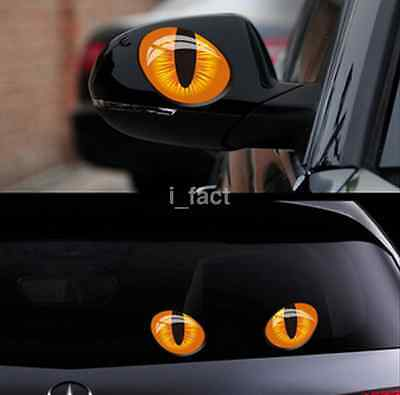 Funny Stickers 3D CAT EYES Car Rear View Mirror Window For CTS SPORT WAGON CA