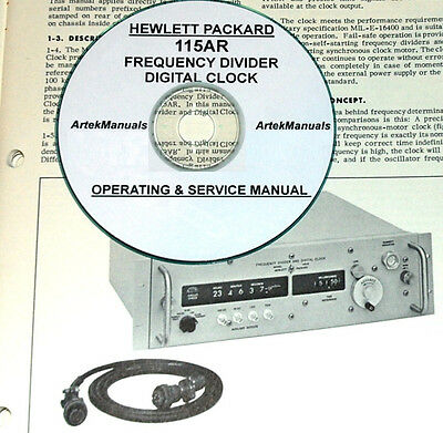 Hp 115ar Digital Clock Operating Service Manual