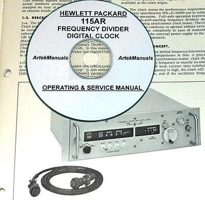 Hp 115ar Digital Clock Operating Service Manual