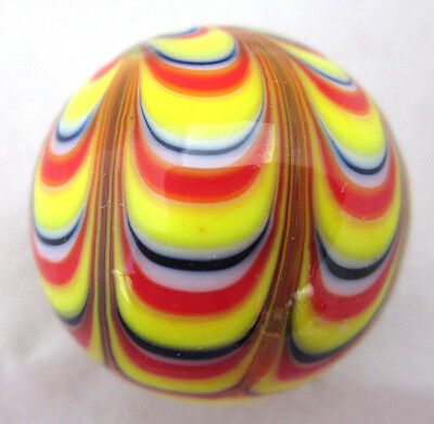 "25mm RAZZAMATAZZ Handmade art glass stripe design Marbles ball Large 1"" SHOOTER"