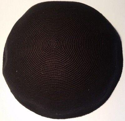 Knitted Black Yamaka Kipot Shabbat Yarmulke Kippah Hat Yarmulke Kippa 16 cm