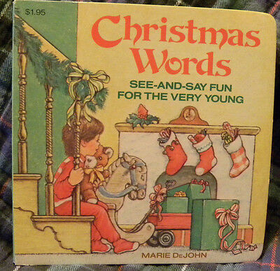 CHRISTMAS WORDS BY MARIE DEJOHN, Sm Board Book, 1982, Random House ()