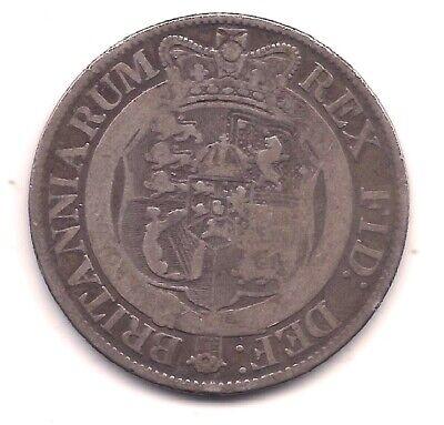 1820 Great Britain Silver Half Crown---George III---Honest Wear  - $27.00
