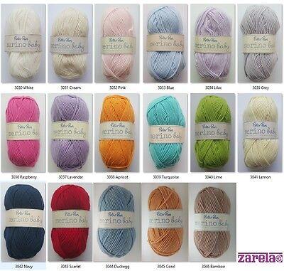 Peter Pan Merino Baby DK 50g 100% Superwash Wool Yarn - ***ALL COLOURS***