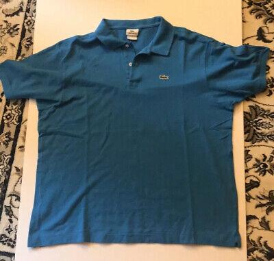 Lacoste Men's Polo Size 8 Us 2XL blue Alligator Logo