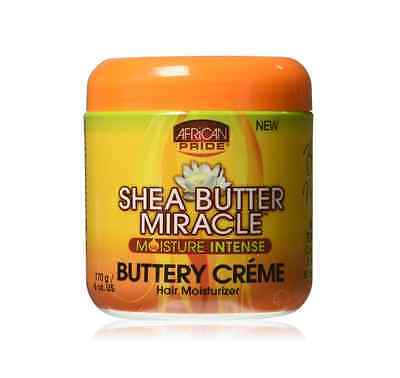 African Pride Shea Butter Miracle Buttery Creme Hair Moisturizer 6 (African Pride Miracle Creme)