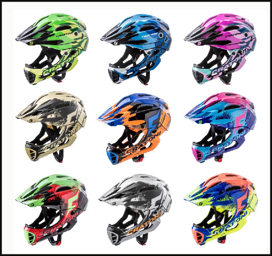 CRATONI C-Maniac Pro Fullface Fahrradhelm Helm ( für MTB Enduro Freeride BMX )