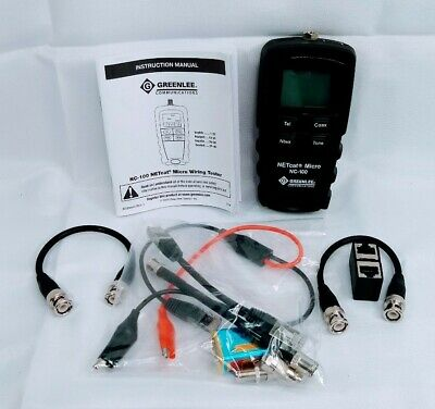 Greenlee Nc-100 Netcat Micro Digital Voice Data And Video Wiring Tester