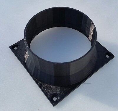 AntMiner S1 S3 S5 S7 S9 L3+ Custom 120mm Fan Duct Cooling Shroud to 4 Inch Vent