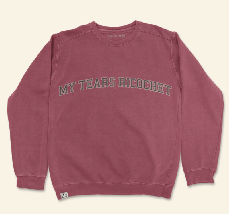 """Preorder""""my tears ricochet"""" crewneck-Taylor Swift (Folklore Holiday Collection)"""