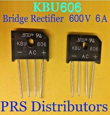 Kbu606 Diode Bridge Rectifier 6a 600v 2 Pieces New Usa Seller