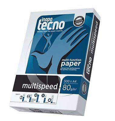 Kopierpapier A4 80g Druckerpapier Multispeed 5 Pack a 500 Blatt für Laser+Tinte