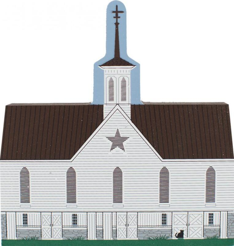 Cat's Meow Village Gothic Star Barn Middletown PA 1872 #R738 NEW SHIP DISCOUNTS