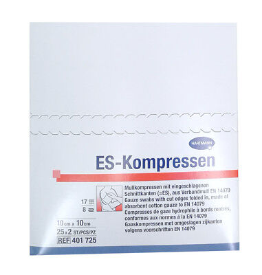 ES-Kompressen 10 x 10 cm, steril, 50 Stück (25 x 2)