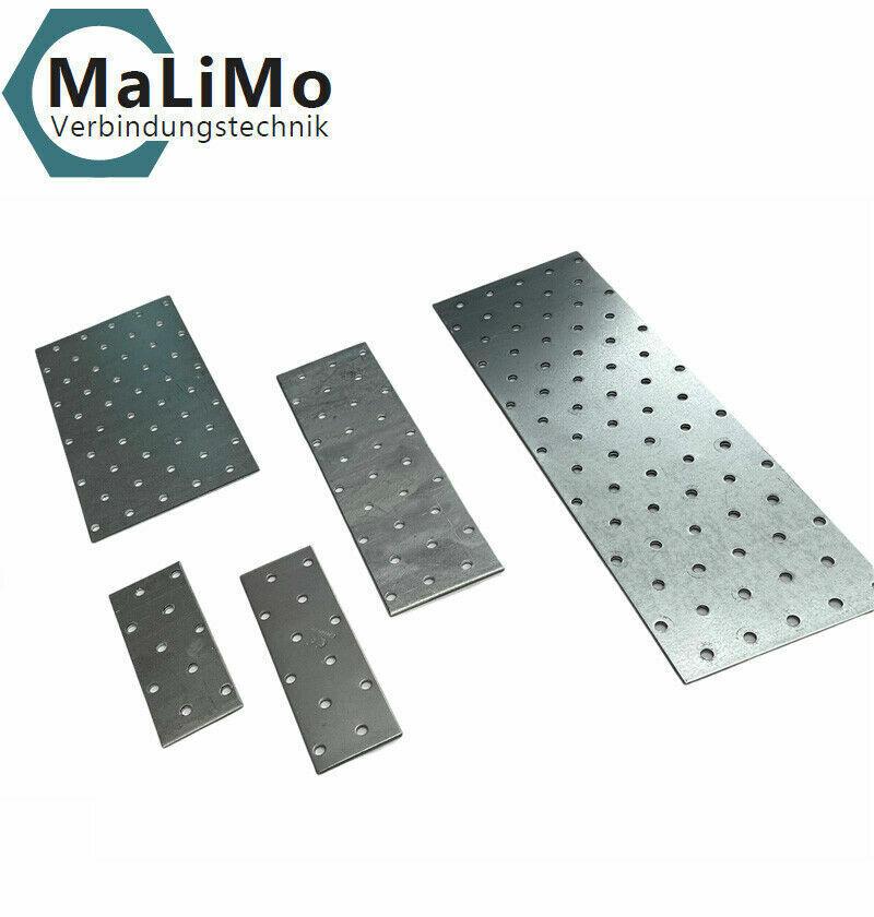 Lochplatten Holzverbinder Lochbleche Nagelplatten Flachverbinder verzinkt CE