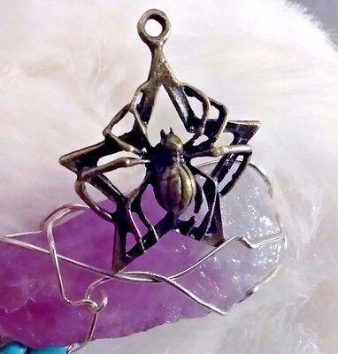 ~WISH GRANTING~  BLACK WIDOW Amulet Pendant Talisman SPELLS WICCA WITCH Powerful
