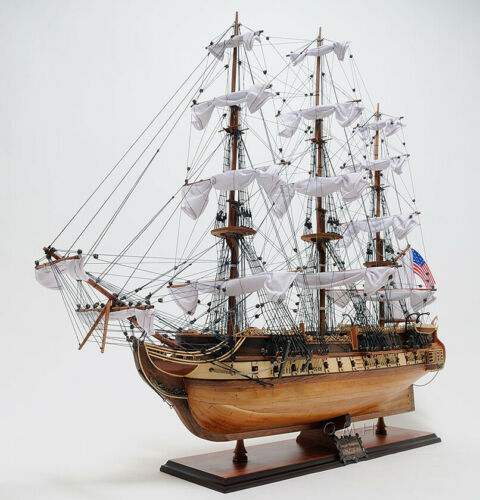 "USS Constitution Wooden Tall Ship Model 29"" Old Ironsides Fully Assembled New"