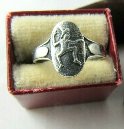 FIRST BROWNIE RING 1933 RARE Sterling, Size 3, Elf Logo Girl Scouts COLLECTORS