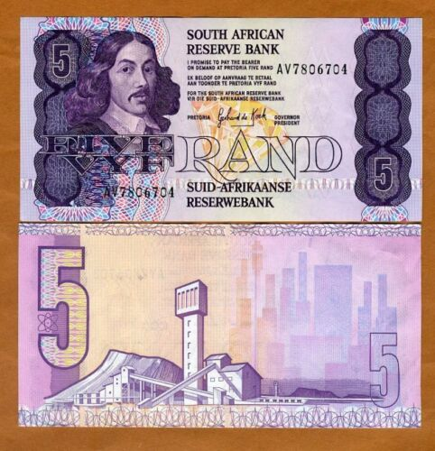 South Africa, 5 rand, ND (1989-1990), P-119 (119d), XF+